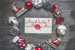 Christmas decorations envelope