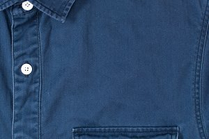 close-up view of stylish denim shirt