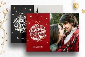 Photo Christmas Card Template | 012