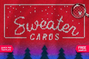 CHRISTMAS SWEATER Photoshop Template