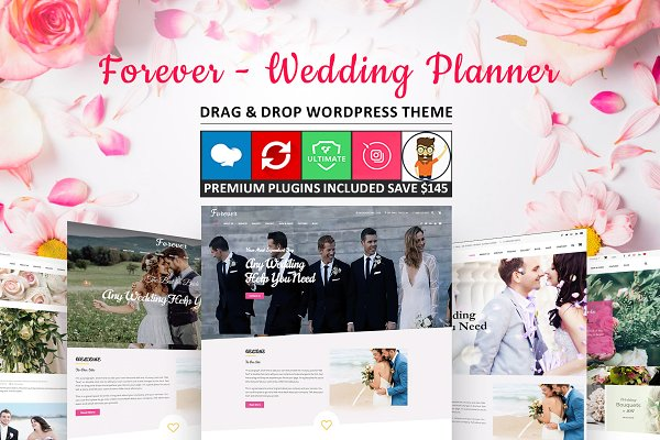 WordPress Wedding Themes: Cherry Wordpress Theme - Forever - Wedding Planner WordPress