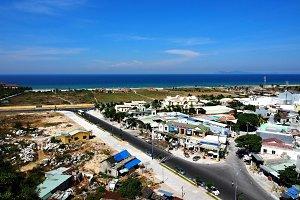 Overlook of a seaside town, Viet Nam