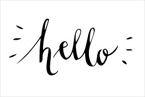 Hello calligraphy vector illustrations creative market stopboris