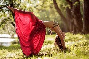 woman doing Bridge Pose from yoga