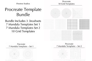 Procreate Template Bundle .brushset