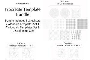 Procreate Template Bundle .brushset