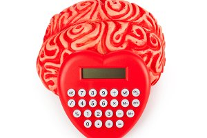 Human rubber brain with calculator h