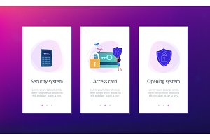 Security access card app interface