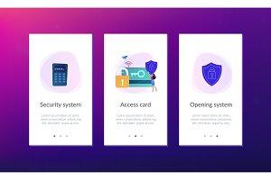 Security access card app interface