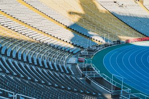 Stands and racing track of a Stadium