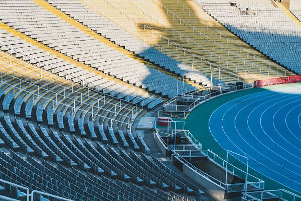Architecture Stock Photos: Visual Motiv - Stands and racing track of a Stadium