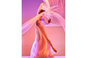 Ballerina. Young graceful female