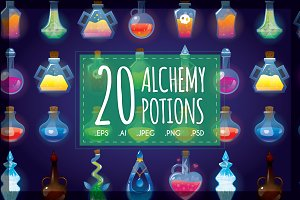 Set of 20 Alchemy Potions