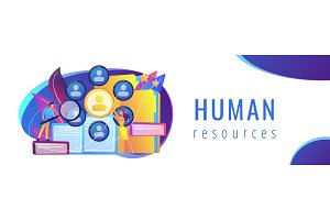 Human resources concept banner