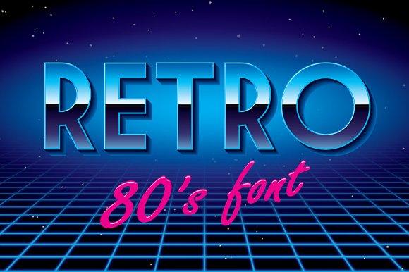Retro disco font!