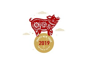 Happy chinese new year 2019 with
