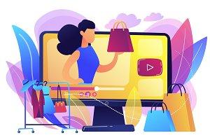 Fashion blog concept vector