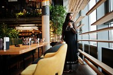 Pretty indian girl in black saree dr by  in Beauty & Fashion