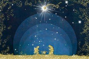 Christmas Nativity Scene greetings