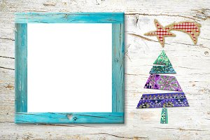 Xmas Nativity photo frame card