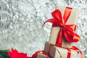 Beautifully packaged gift boxes with