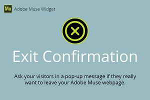 Exit Confirmation Adobe Muse Widget