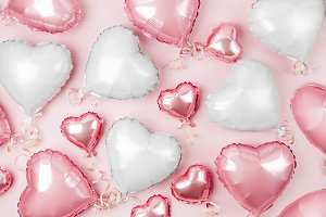 Hearts Balloons background
