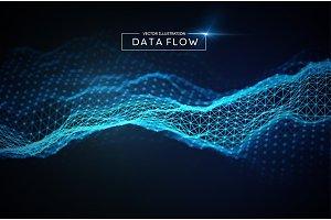 Computer data flow background
