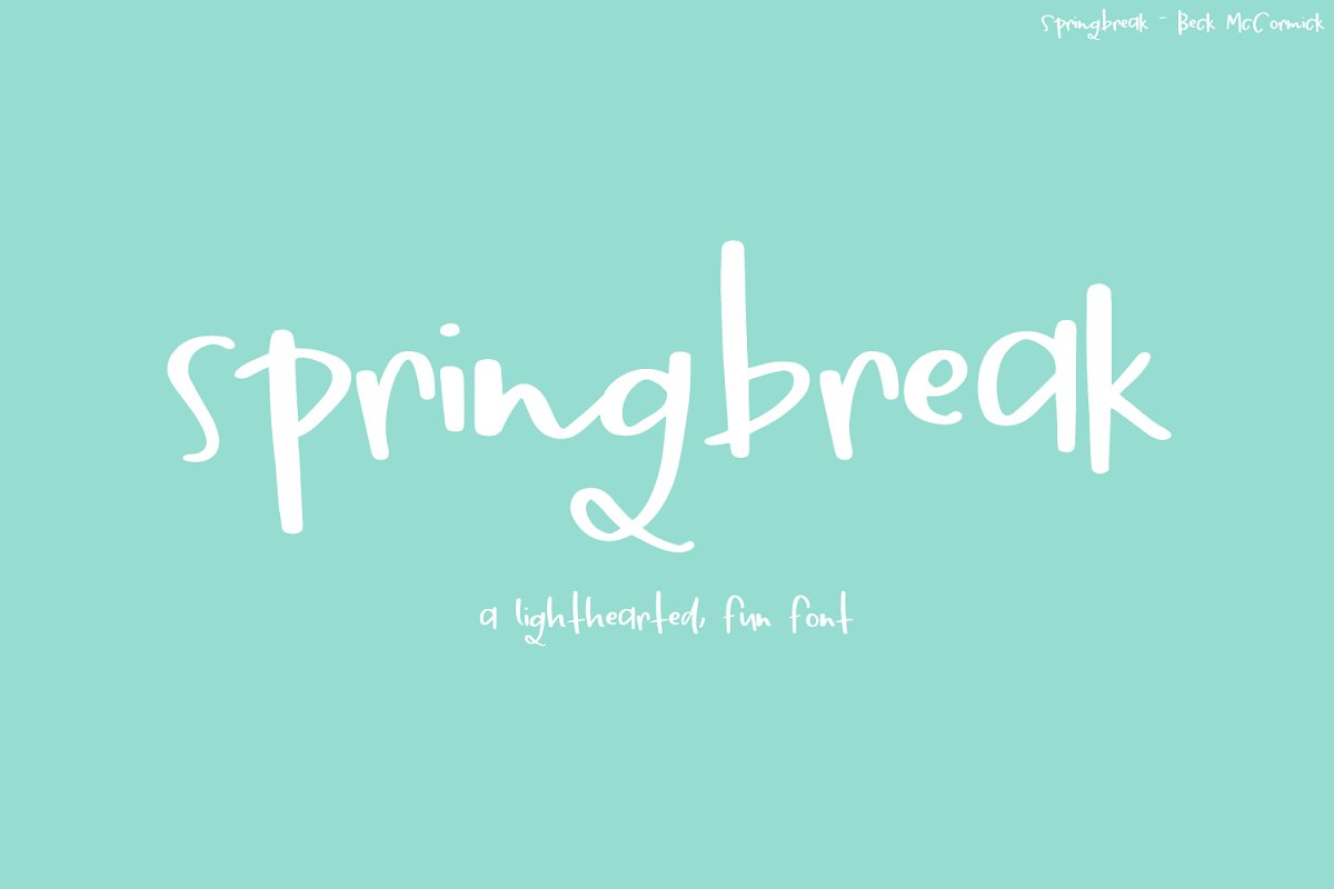 Springbreak Font in Script Fonts - product preview 2