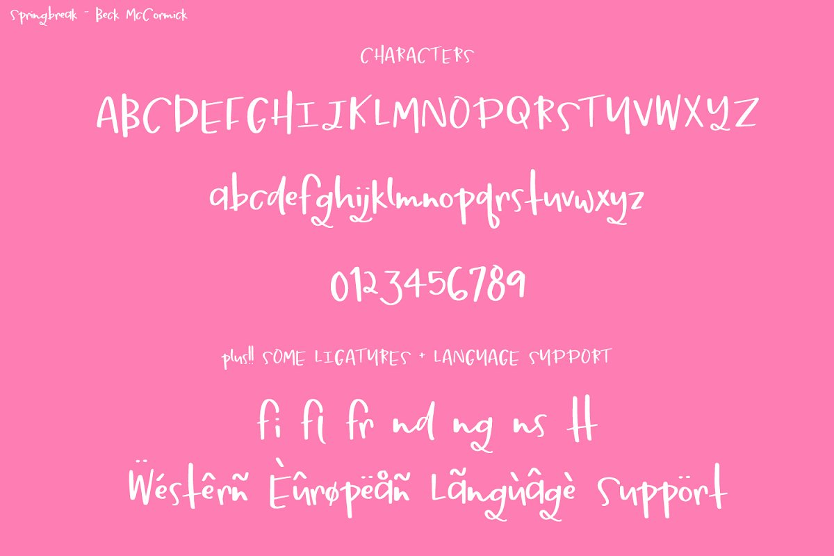 Springbreak Font in Script Fonts - product preview 7