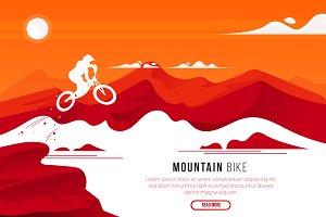 Mountain Bike - Vector Landscape