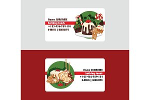 Christmas food chef business card