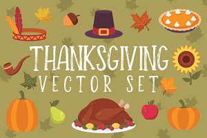 Thanksgiving Clipart Vector Set