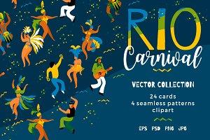 Rio carnival. Vector collection.