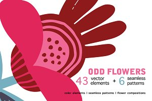 ODD FLOWERS + patterns