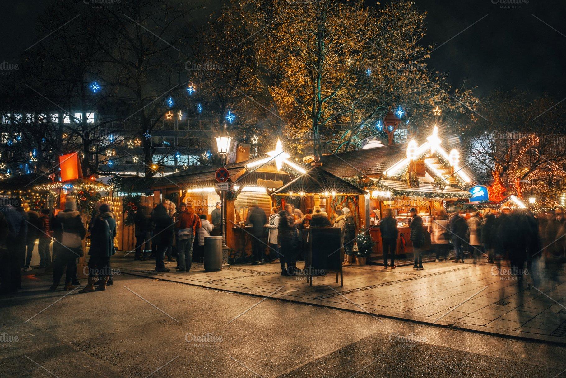 Christmas In Munich Germany.Christmas Market In Munich Germany