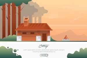 Cottage - Vector Landscape &Building