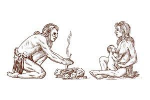 Primitive people. Prehistoric