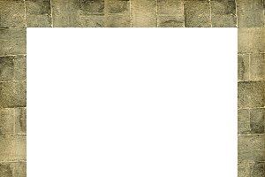 Blank Portrait Frame With Stone Patt