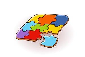 puzzles, 3D puzzles, logo, puzzle