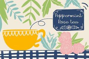Peppermint Rose tea