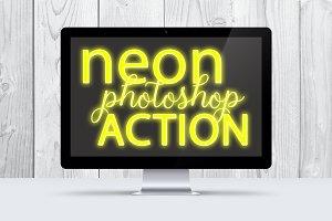 Yellow Neon Photoshop Action