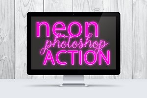 Pink Neon Photoshop Action