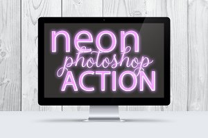 Lilac Neon Photoshop Action