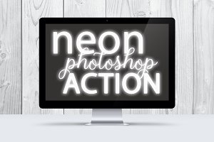White Neon Photoshop Action