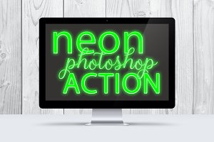 Green Neon Photoshop Action
