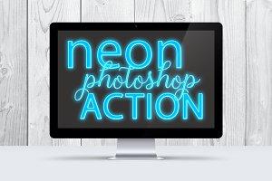 Blu Sky Neon Photoshop Action