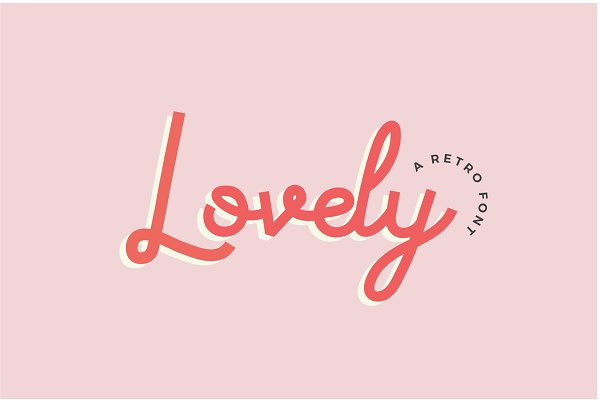 Fonts: Big Cat Creative - Lovely | A Curly Retro Font