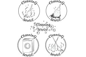 Cleaning logos vector