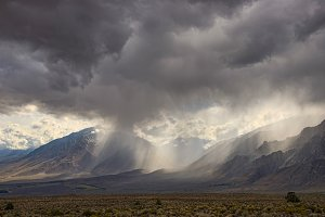 Stormy weather,  Eastern Sierra